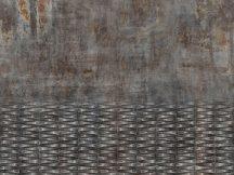 Rasch Factory IV  429763 Ipari deign beton és fémfelület kombinációja szürke barna rozsdabarna antracit ezüst fapanel