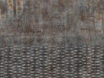 Rasch Factory IV  429763 Ipari design beton és fémfelület kombinációja szürke barna rozsdabarna antracit ezüst fapanel