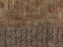Rasch Factory IV  429770 Ipari deign beton és fémfelület kombinációja szürke barna rozsdabarna terrakotta antracit ezüst fapanel