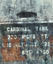 Rasch Factory IV  429787 Ipari deign Feliratos raktári doboz szürke kék rozsdabarna terrakotta ezüst falpanel