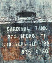 Rasch Factory IV  429787 Ipari design Feliratos raktári doboz szürke kék rozsdabarna terrakotta ezüst falpanel