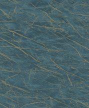 Rasch Factory IV 428957 Natur Kontrasztos természetes és dinamikus márványerezet minta mélykék világos arany tapéta