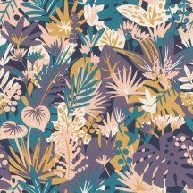 Rasch ZOYA 431513 Botanikus virágos éjkék türkiz homoksárga lila rózsaszín fehér tapéta