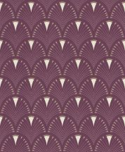 Rasch Modern Art 433241  modern grafikus díszítés lila fehér arany tapéta