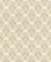 Rasch Modern Art 433913 grafikus díszítőminta krém arany tapéta