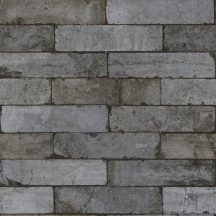 Rasch Factory II, 446333 Natur/Ipari design Ikonikus loft stílusú téglaminta szürke barna antracit tapéta