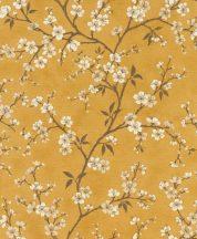 Rasch Denzo II 456721 Natur virágos varázslatos cseresznyevirágzás textilstruktúra okkersárga barna krém bézs fényes arany kihúzások tapéta