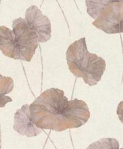 Rasch Andy Wand 458237 Natur Tavirózsa levelek vakolt fal háttér krémfehér bordó pasztell ibolya csillogó rézszín tapéta