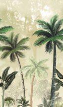Marburg Smart Art Easy 47202 Natur Botanikus trópusi pálmafák krém sárgásbézs barna szürke zöld falpanel