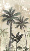 Marburg Smart Art Easy 47203 Natur Botanikus trópusi pálmafák krémfehér bézs világosbarna szürke zöld falpanel