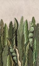 Marburg Smart Art Easy 47205 Natur Botanikus nagyformátumú trópusi levelek bézs zöld árnyalatok falpanel