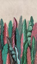 Marburg Smart Art Easy 47206 Natur Botanikus nagyformátumú trópusi levelek rózsaszín mályva piros kék zöld árnyalatok falpanel