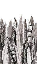 Marburg Smart Art Easy 47207 Natur Botanikus nagyformátumú trópusi levelek fehér szürke ezüst fekete falpanel