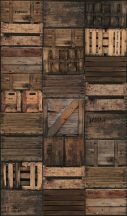 Marburg Smart Art Easy 47211 Natur Régi fadobozok faládák bézs barna árnyalatok fekete falpanel
