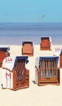 Marburg Smart Art Easy 47218 Natur Etno tengerpart autentikus strndkosarakkal homokszín tengerkék barna piros fehér falpanel
