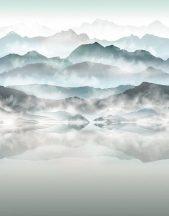 Marburg Smart Art Easy 47224 Natur Hipnotikus hatású hegyi tó (tengerszem) kék árnyalatok zöldeskék szürke fehér falpanel