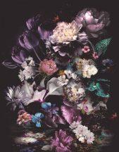 Marburg Smart Art Easy 47225 Natur a természet szépségéből merítve dús virágok fekete lila kék fehér szines falpanel