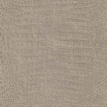 Rasch Mandalay 474138 krokodílbőr minta ezüst barna szürke tapéta