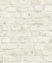 Rasch Sansa/Make a Change 504750 Natur téglaminta fehér krém szürke tapéta