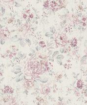 Rasch Souvenir/Follow your Dreams 516029 Romantikus nyári virágcsokor krémfehár rózsaszín, szürke, magenta tapéta