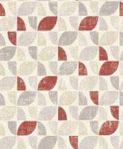 Rasch Modern Art 519822  grafikus design krém bézs szürke piros tapéta