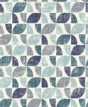Rasch Modern Art 519839  grafikus design fekér kék zöld szürke tapéta