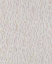 Rasch Sparkling 523874 Grafikus összefonódó hullámminta szürke bronz csillogó mintarajzolat tapéta