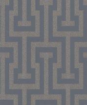 Rasch Sparkling 523928 görög labirintus minta éjkék  bronz csillogó tapéta