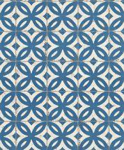 Rasch Crispy Paper 524703 Natur fotorealisztikus antik csempeminta krém bézs kék tapéta