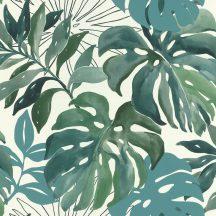 Rasch Make a Change 526608 natur organikus fehér zöld kék tapéta