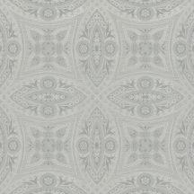 Rasch Berlin/Follow your Dreams 529708 Díszítóminta kör díszek stukkó mintázat textil struktúra ezüst fénylő hatás tapéta