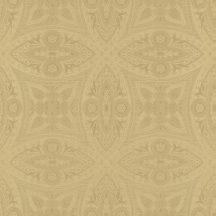 Rasch Berlin/Follow your Dreams 529722  Díszítóminta kör díszek stukkó mintázat textil struktúra arany fénylő hatás tapéta
