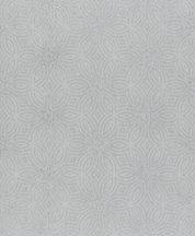 Rasch Berlin 530520 Grafikus díszítőminta körök körívek csillogó szemcsézetű csillagmotívum ezüstszürke tapéta