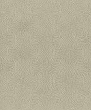 Rasch Berlin 530537 Grafikus díszítőminta körök körívek csillogó szemcsézetű csillagmotívum zöldes bézs arany tapéta