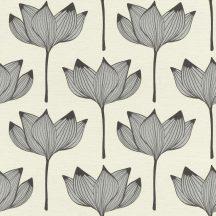 Rasch Most Fabulous 530902 natur virágos krém ezüst fekete tapéta