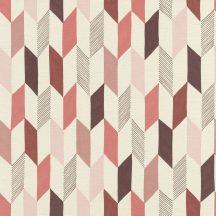 Rasch Most Fabulous 531039 geometrikus rombuszok krém rózsaszín korallpiros barna tapéta