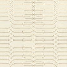 Rasch Most Fabulous 531237 retro grafikus vonalmintázat bézs arany tapéta