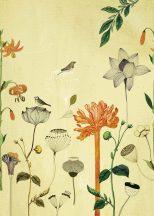 Rasch Most Fabulous 532036 természeti kép virágok madarak sárga szines falpanel