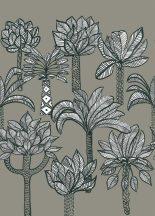 Rasch Most Fabulous 532050 natur organikus pálmák szürke fehér fekete falpanel