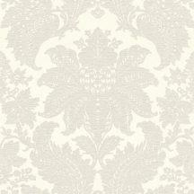 Rasch Trianon XII, 532715 klasszikus nagyléptékű barokk díszítőminta ó-fehér szürkésbézs tapéta