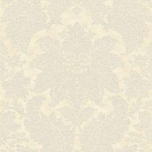 Rasch Trianon XII, 532722  klasszikus nagyléptékű barokk díszítőminta krémfehér bézs tapéta