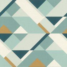 Geometrikus külünböző síkidomok fehér szürke zöld kék arany tapéta