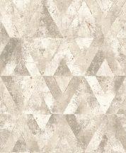 Rasch Yucatan 535525  Geometrikus Natur antik kő alap rombusz /gyémánt/ minta bézs szürke barna fehér árnyalatok finom arany tapéta
