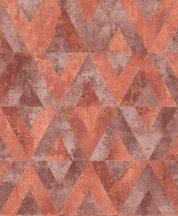 Rasch Yucatan 535549  Geometrikus Natur antik kő alap rombusz /gyémánt/ minta vörös és vörösesbarna árnyalatok finom arany tapéta