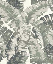 Rasch Yucatan 535600 Natur nagyformátumú trópusi levelek 3D fehér zöld és bézs árnyalatok tapéta