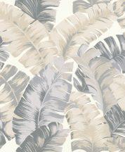 Rasch Yucatan 535617 Natur nagyformátumú trópusi levelek 3D krémfehér szürke és bézs árnyalatok tapéta