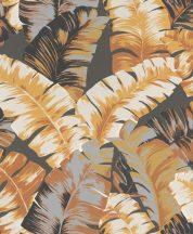Rasch Yucatan 535631 Natur nagyformátumú trópusi levelek 3D krémfehér fekete agyagszürke barna szürke fehér tapéta