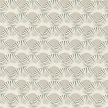 Rasch Amazing 539301 Dinamikus grafikai tervezés Japán művészet stilizált legyező motívum világosszürke kavicsszürke fehér tapéta