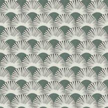Rasch Amazing 539325 Dinamikus grafikai tervezés Japán művészet stilizált legyező motívum fehér zöld/szürkészöld antracit tapéta
