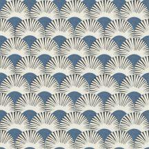 Rasch Amazing 539363 Dinamikus grafikai tervezés Japán művészet stilizált legyező motívum világos japán kék antracit fehér tapéta